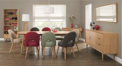 Oslo Oak 6 Dining Table & 6 Veneered Back Chairs http://solidwoodfurniture.co/product-details-oak-furnitures-3940-oslo-oak-dining-table-veneered-back-chairs.html