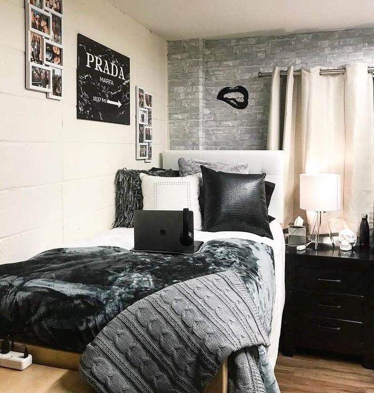 Wallpops Gray Brick Peel And Stick Wallpaper Dorm Room Color Schemes Dorm Room Colors College Bedroom Decor