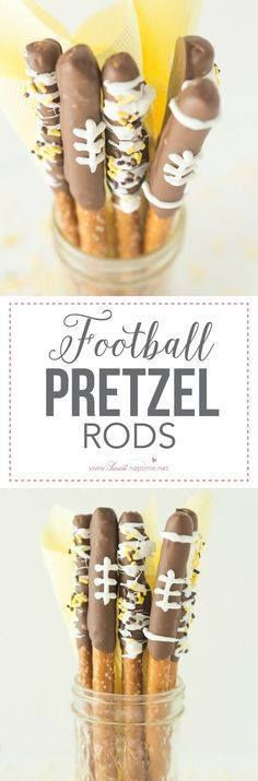 Football Pretzel Rod Football Pretzel Rods a perfect game...  Football Pretzel Rod Football Pretzel Rods a perfect game winning snack you can enjoy all football season. Decorate them in your teams colors for a fun way to personalize your party! Recipe : http://ift.tt/1hGiZgA And @ItsNutella  http://ift.tt/2v8iUYW