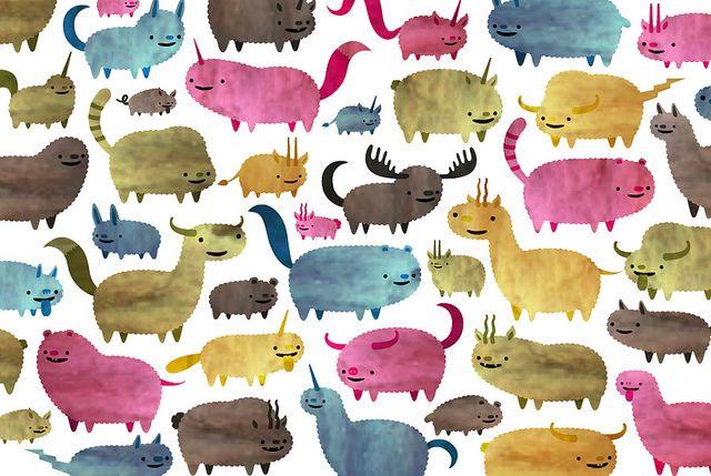 Animal pattern illustration by Martin Bregman. #animal #patternAnimal Form, Guys Martin, Illustrationer Animal, Pattern Illustration, Animales Body, Animal Pattern, Distortion Animal, Animal Shape, Martin Bregman