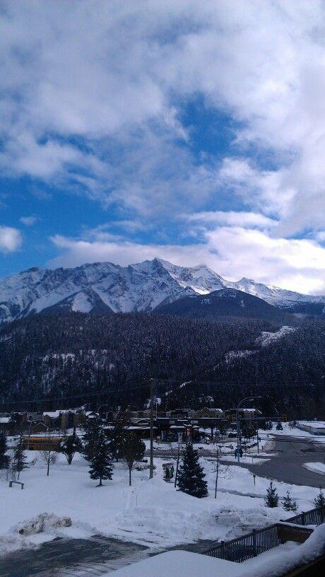 #Pemberton view of #MountCurrie from Pemberton GatewY Village Suites Hotel:##Mountain+#Snow