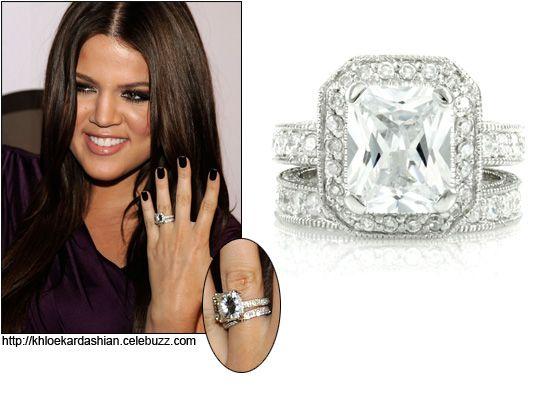 Khloe Kardashian Engagement Ring 9 Carat Radian Cut Modern Design Custom Jewelry