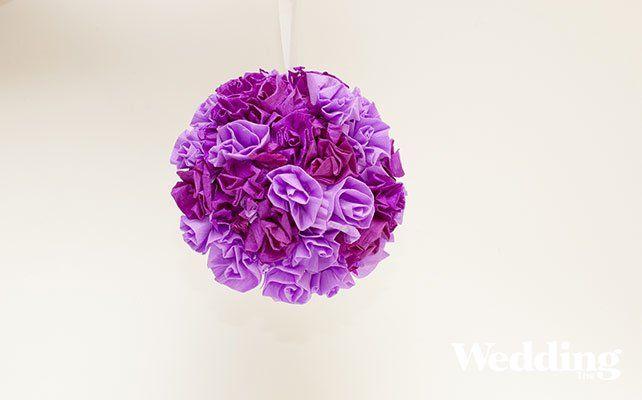 Как сделать помпон из бумажных роз