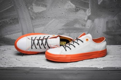 Chuck Taylor All Star II Canvas Shoes-White-Orange #converse #shoes
