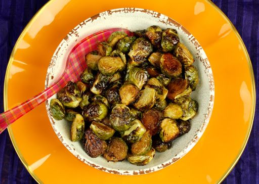 Honey Balsamic Roasted Brussel Sprouts With Brussels Sprouts, Honey, Balsamic Reduction, Sea Salt, Cayenne