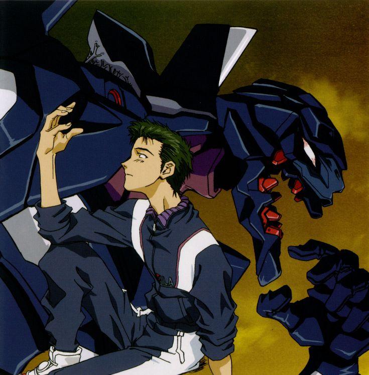 Touji and EVA Unit 03