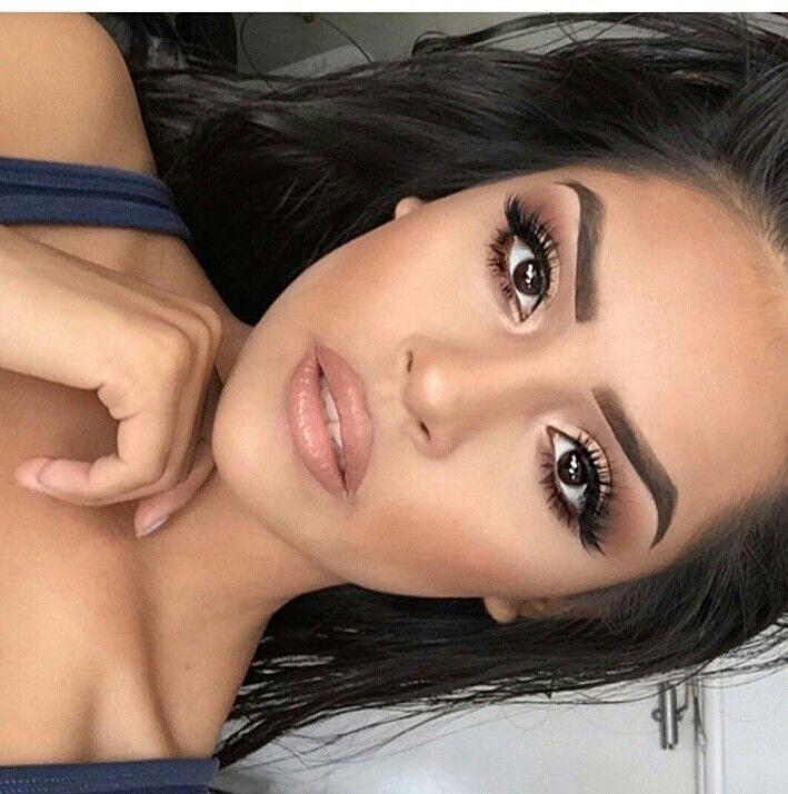 Make up brown eyes