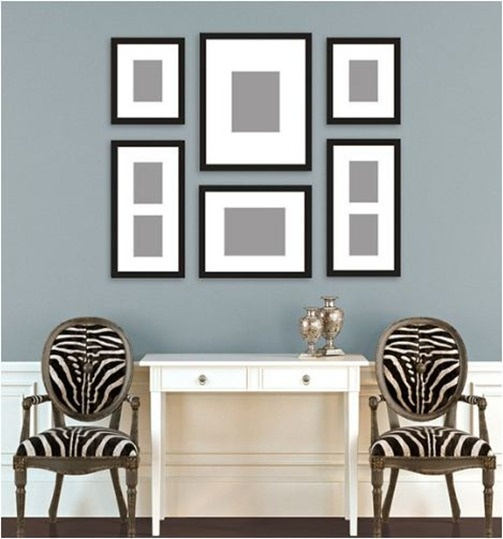 the waiting room area(on the walls in the frames I want to pictures of nail art designs) and on the table magazines : )