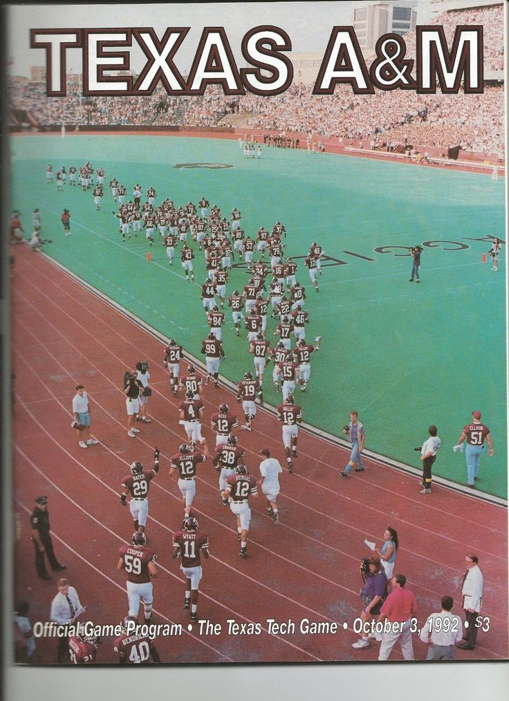 Game Program from Texas A&M vs Texas Tech at Kyle Field in