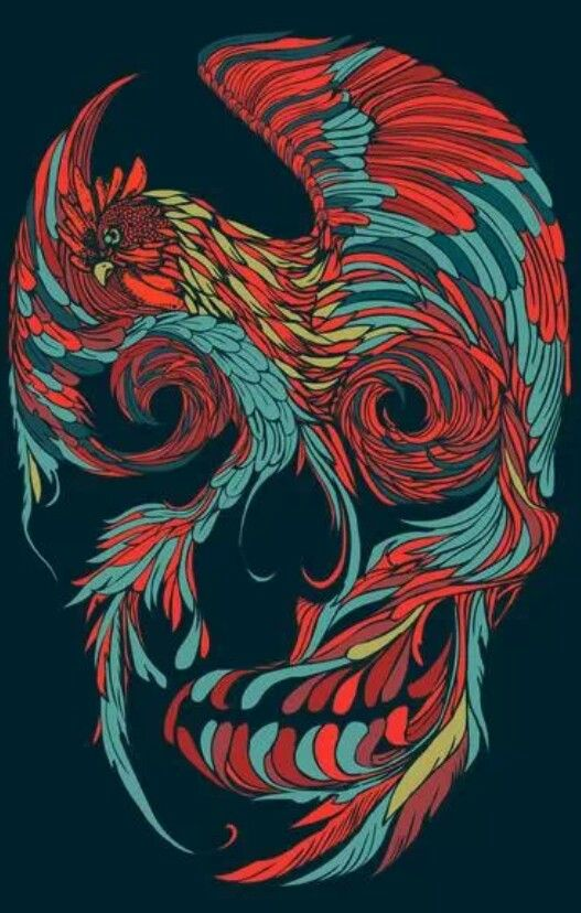Rooster Skull Art Print by Huebucket