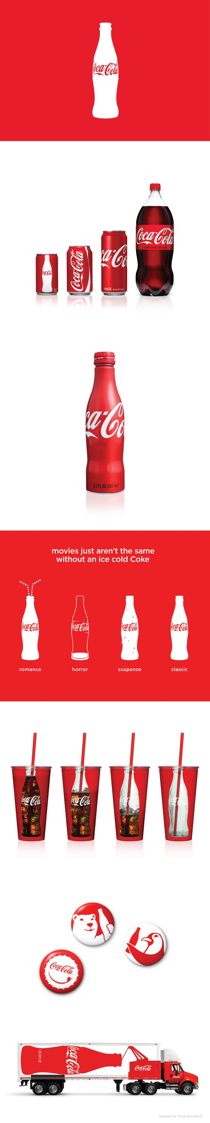 Coca-Cola visual identity. Designed by Turner Duckworth.