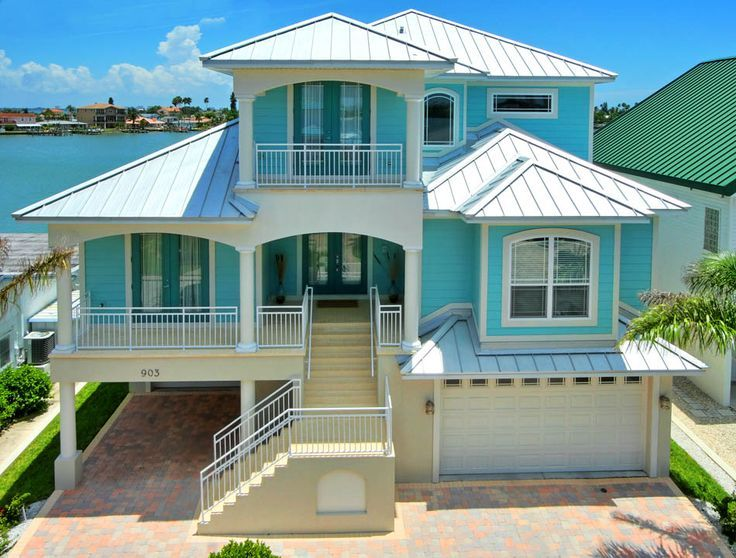 I love this florida keys home the color scheme is perfect - Coastal home exterior color schemes ...