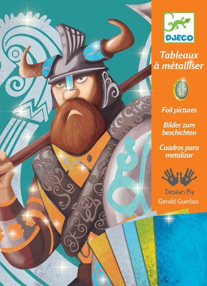 Vikingek- különleges fémfóliázós kreatív készlet (Djeco)   Pandatanoda.hu Játék webáruház