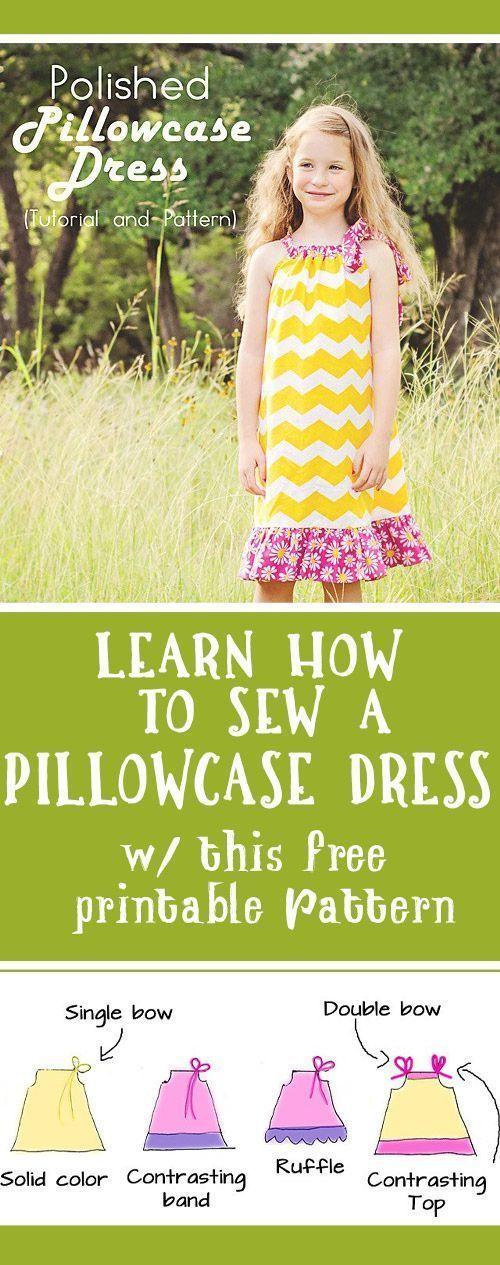 Learn how to sew a Pillowcase Dress (free Pillowcase Dress pattern & tutorial)