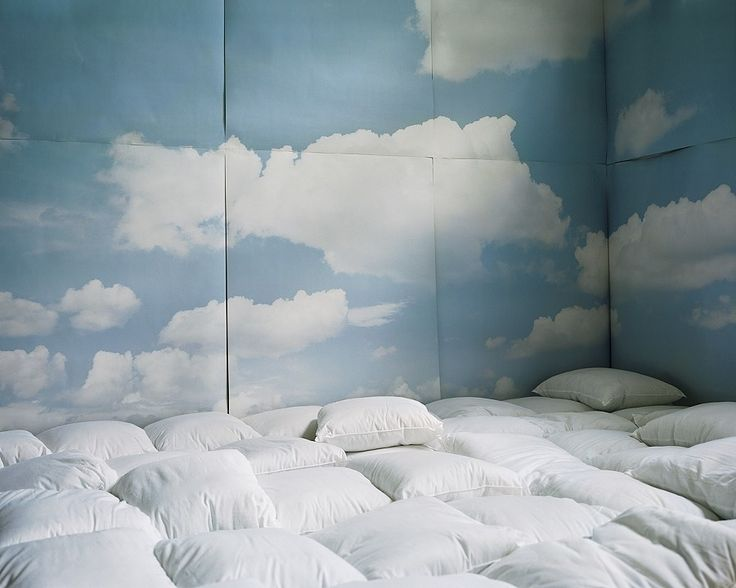 Pillow room! Great for movie nights or... [insert clever line] something, something Cloud 9.