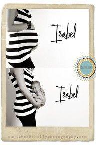 @Tiffany Frincke @Cassie Matte @Katie Lopez Ballard - cute idea! before & after baby photos
