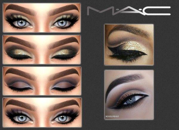 MAC cosimetics: Two looks • Sims 4 Downloads