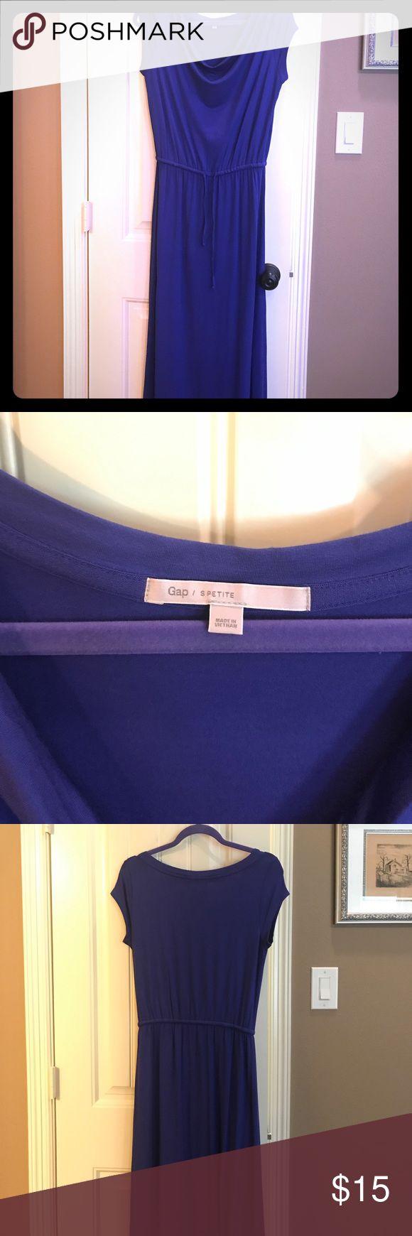 gap petite maxi dress Gap Bright blue knit maxi dress GAP Dresses Maxi