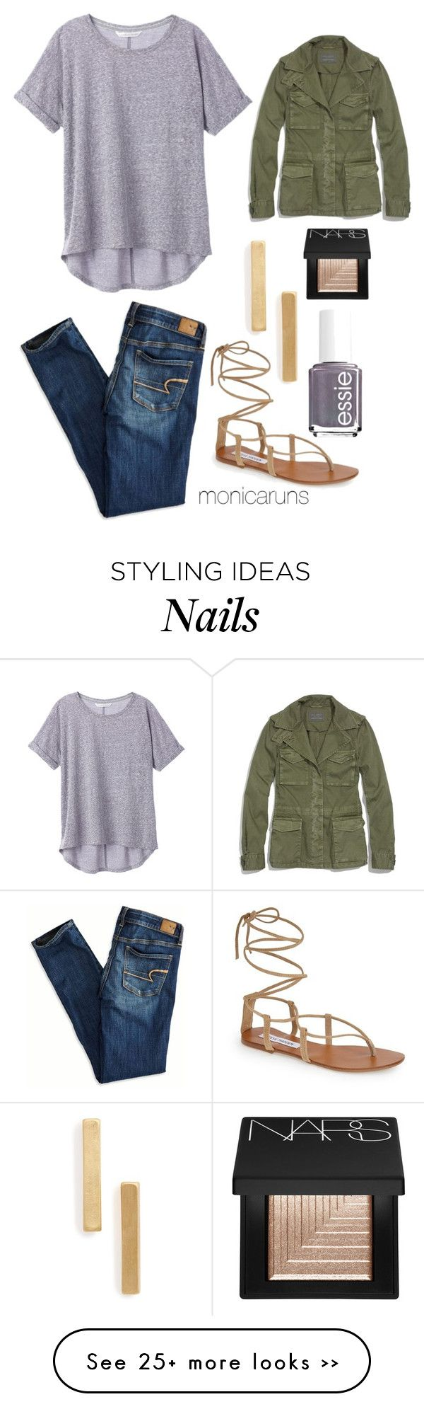 """""""9.12.15"""" by monicaruns on Polyvore featuring Madewell, Essie, Steve Madden, American Eagle Outfitters, Topshop and NARS Cosmetics"""