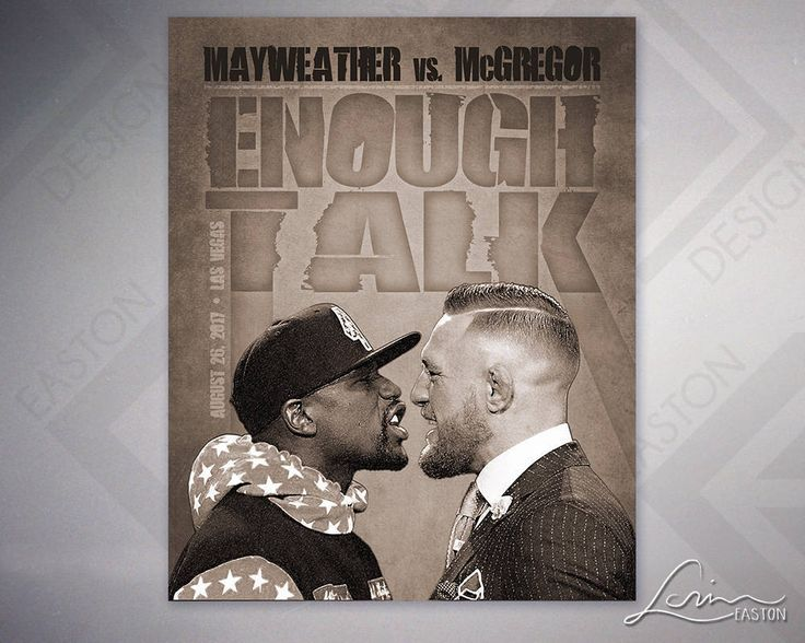 Enough Talk - Floyd Mayweather Jr. - Conor McGregor - UFC & Boxing Posters - Original Archival Print - 8x10, 11x14, 16x20, 20x24 by EastonDesign on Etsy