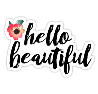 Hello beautiful sticker by diffydolls