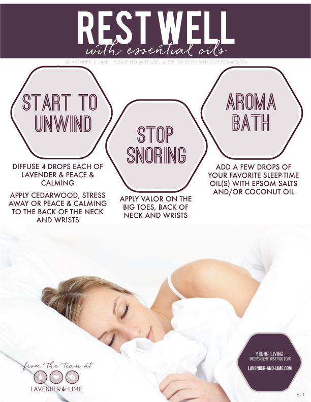 sleep with Young Living essential oils