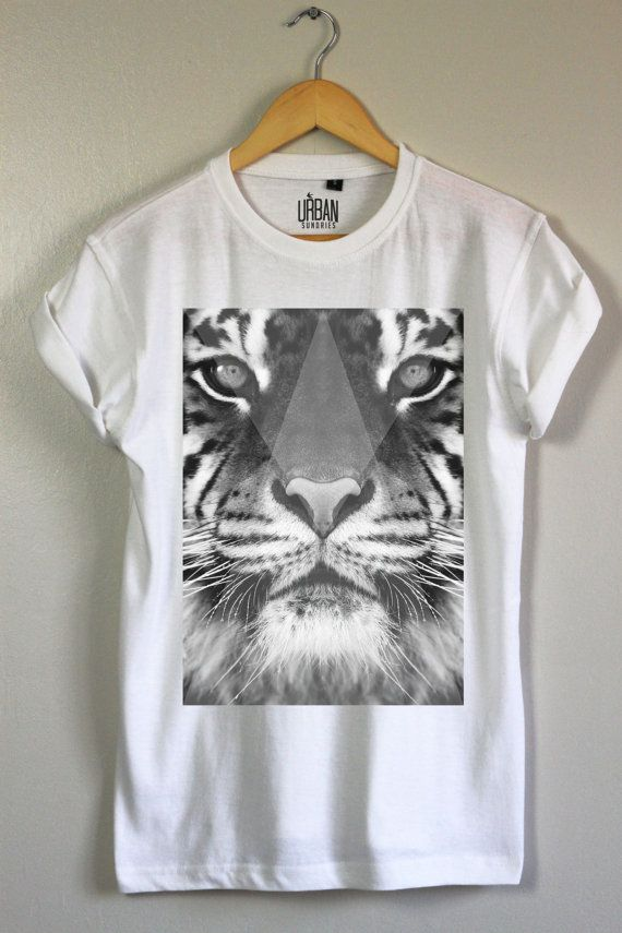 Greyscale Tiger Tee - UK Fashion Hipster Indie T-Shirt
