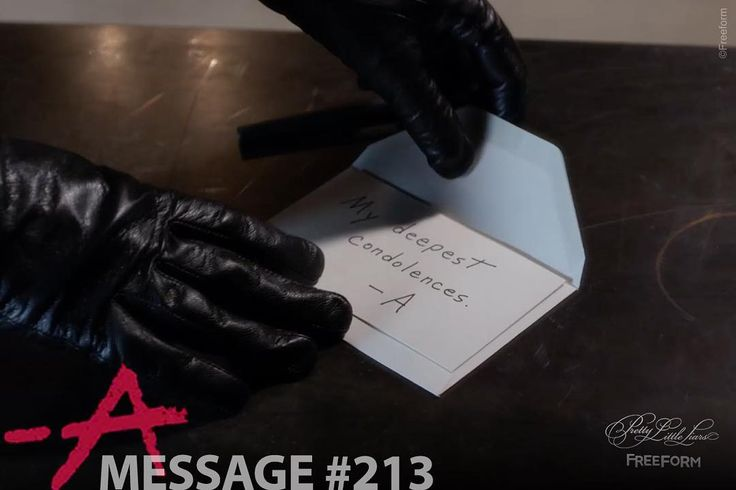 """59.9k Likes, 83 Comments - Pretty Little Liars (@prettylittleliars) on Instagram: """"Message #213 from A. Sent to Bethany Young's parents. Unknown location. ⚰️ #PLLMemoryLane 101 of…"""""""