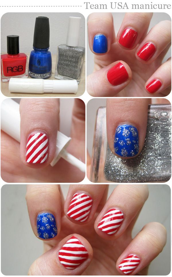 Get ready for the biggest event of the summer nail art diy get ready for the biggest event of the summer nail art diy manicure and flag ideas prinsesfo Choice Image