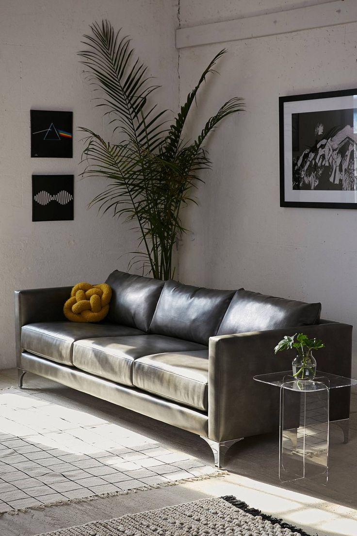 Chamberlin Recycled Leather Sofa | Urban Outfitters
