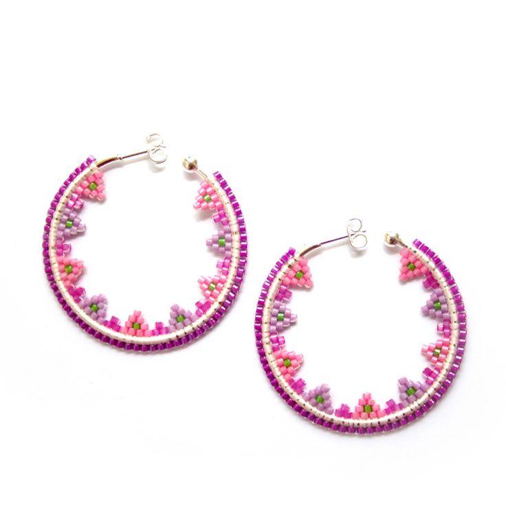 www.dontforgetmelanie.com  Créoles en perles miyuki, tissage brick stitch                                                                                                                                                      More
