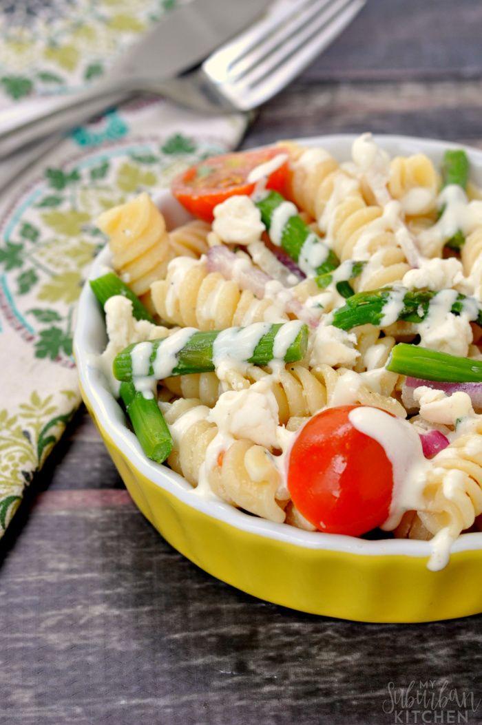 Roasted Asparagus Pasta Salad Recipe   #Inspiration Spotlight
