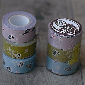日本製 倉敷意匠計画室 おんなの子 マスキングテープ 3色セット 24mm 45322-02 [masking tape ラッピング 幅広 和紙テープ デコレーション コラージュ シール ラッピングテープ かわいい]【楽ギフ_包装】【楽天市場】