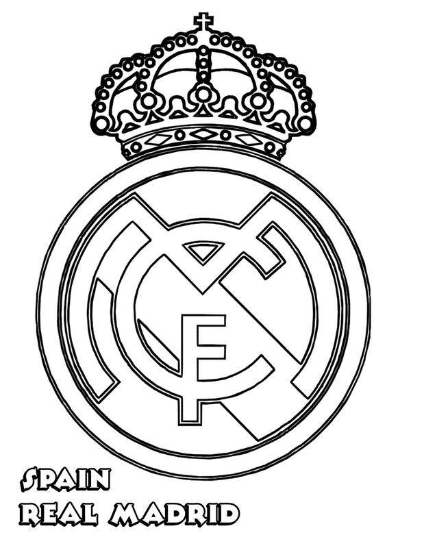 Ausmalbild Real Madrid Ausmalen Ausmalbilder Fussball Malvorlagen Fur Madchen