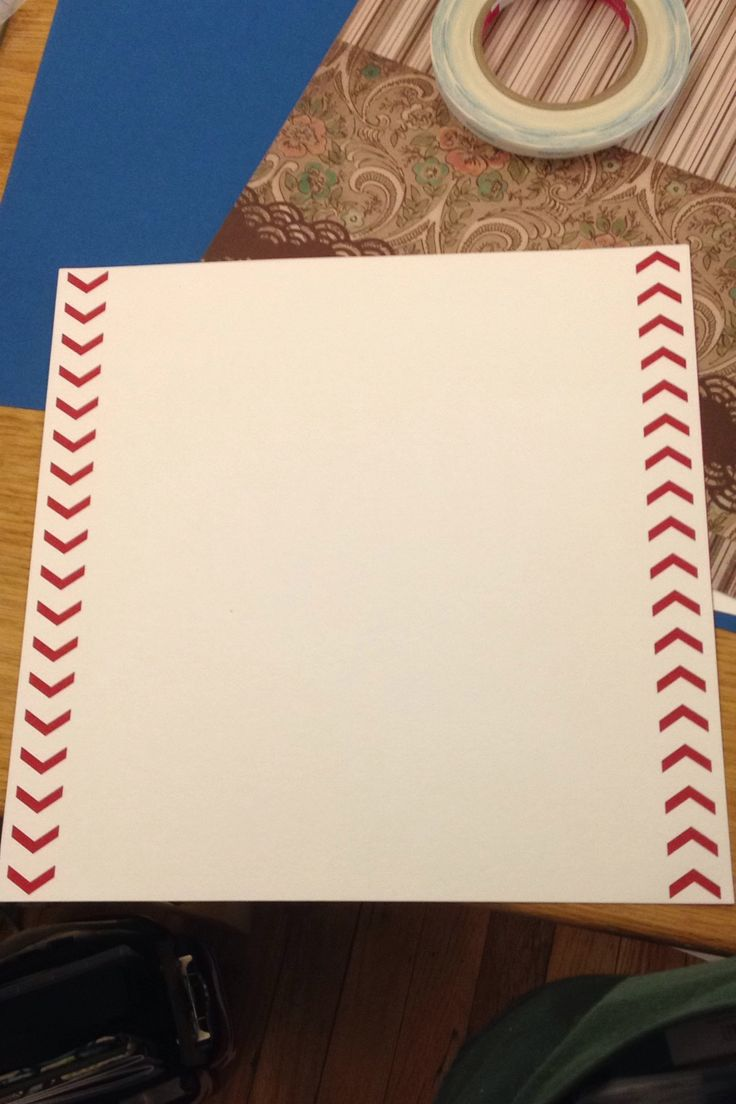 12x12 Scrapbook Layout Created this Baseball/Softball theme page with the Creative Memories Chevron Border Maker Cartridge