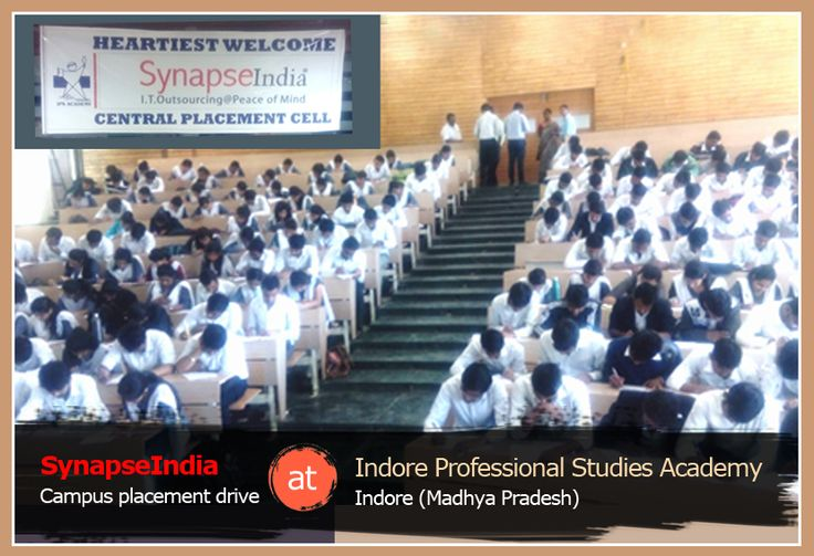 A campus placement drive by SynapseIndia was conducted at IPSA (Indore Professional Studies Academy) in Indore, Madhya Pradesh. SynapseIndia, the ISO & Microsoft Gold certified premier IT company, visited the IPS academy, Indore campus to offer SynapseIndia career opportunities to fresh graduates in various profiles including .Net, Android, SEO, ORM and Testing. B.Tech students from CSE, ECE streams, and MBA final year students appeared in SynapseIndia campus placement drive.