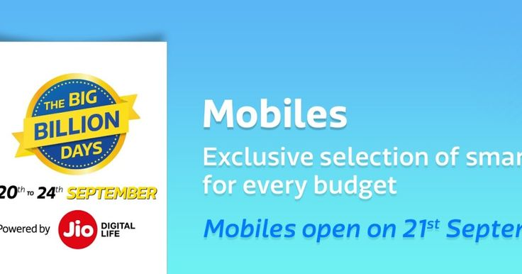 Biggest Smartphone Sale of India in BigBillionDays-Started 20-24 Sept 2017  Exclusive Collection of Smartphones for Every Budget For Every Style  Biggest Smartphone Sale of India in BigBillionDays Started 20th 24th Sept 2017  Checkout for all the offers on Smartphones available in this Big Billion Days on Flipkart at -http://fkrt.it/g0WBMTuuuN      Flipkart's Big Billion Days 20th to 24th Sept 2017- Diwali Navratri Sale -  Biggest SmartPhone Sale of India Started  Exclusive Collection of…