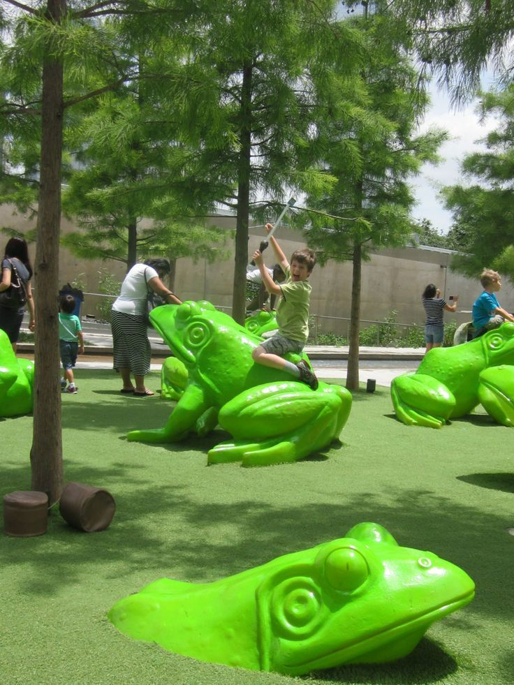 Leapfrog Forest playgroun at Perot Museum of Nature & Science in Dallas lets child…