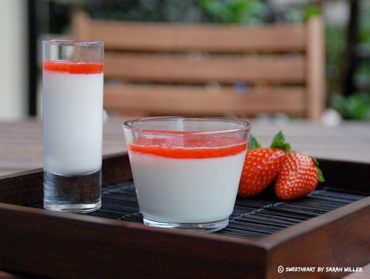 Panacotta vanille coulis de fraise