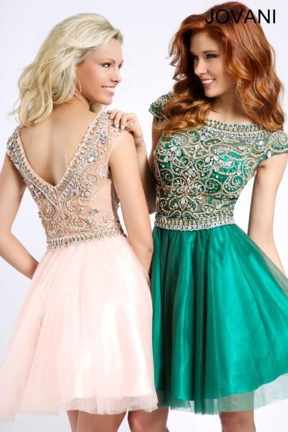 2014 Jovani Cocktail Homecoming Beaded Top Dress 94228
