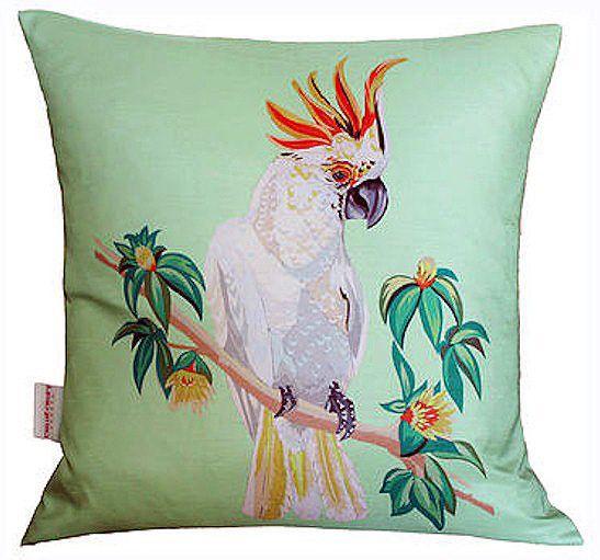 Cockatoo Cushion - Mint