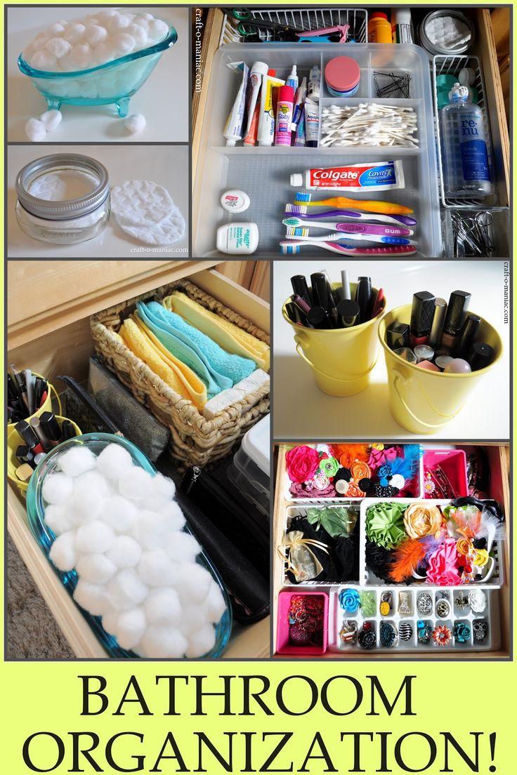 Craft-O-Maniac: Bathroom Organization Ideas