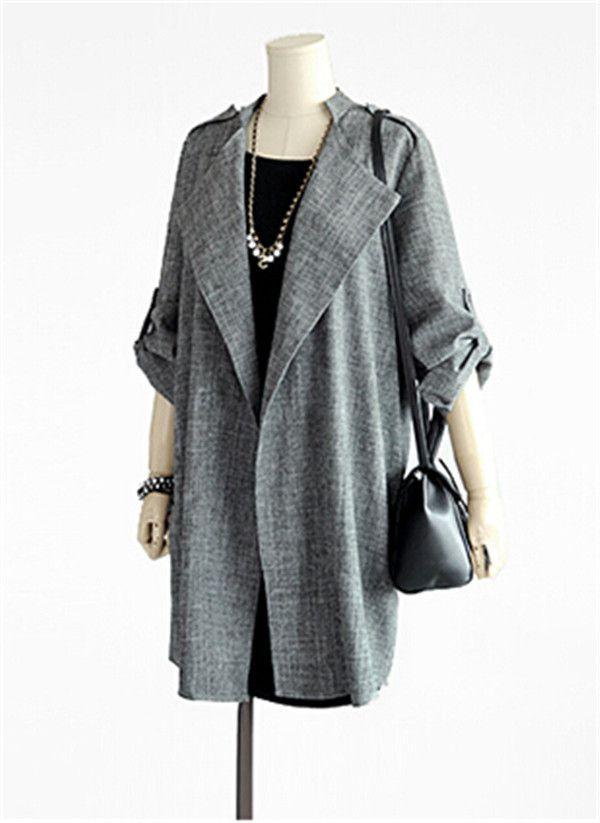 2016 новинка весна осень худые женщины плащ длинный пиджаки Большой размер 5XL тонкий плащ для женщин кардиган пальто купить на AliExpress