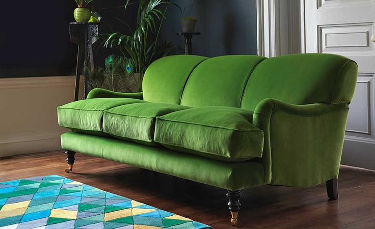 Sofa Workshop Lady May three-seater sofa in Dusky Grass velvet