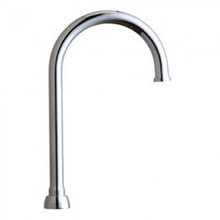 Chicago Faucets Rigid Swing Plain End Gooseneck Spout Faucet Gn2jkcp