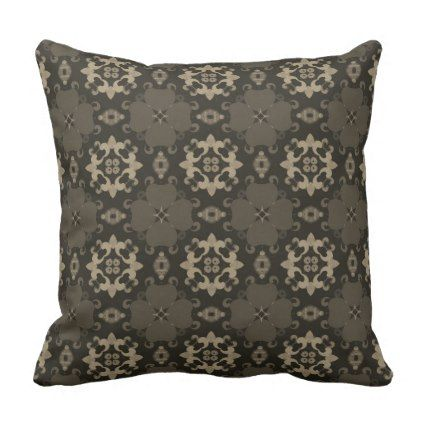 Ebony Color Moroccan Design - Modern Decor Throw Pillow - modern gifts cyo gift ideas personalize