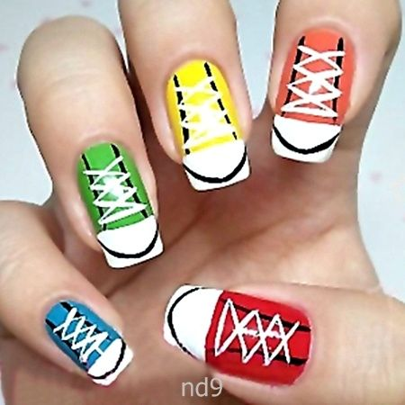 Best 25 converse nail art ideas on pinterest sneaker nails simple nail art designs for beginners prinsesfo Gallery