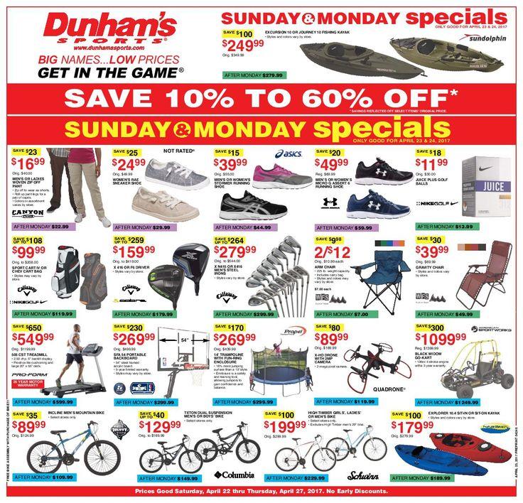 Dunham Sports Weekly Circular April 22 -27, 2017 - http://www.olcatalog.com/dunhams-sports/dunham-sports.html