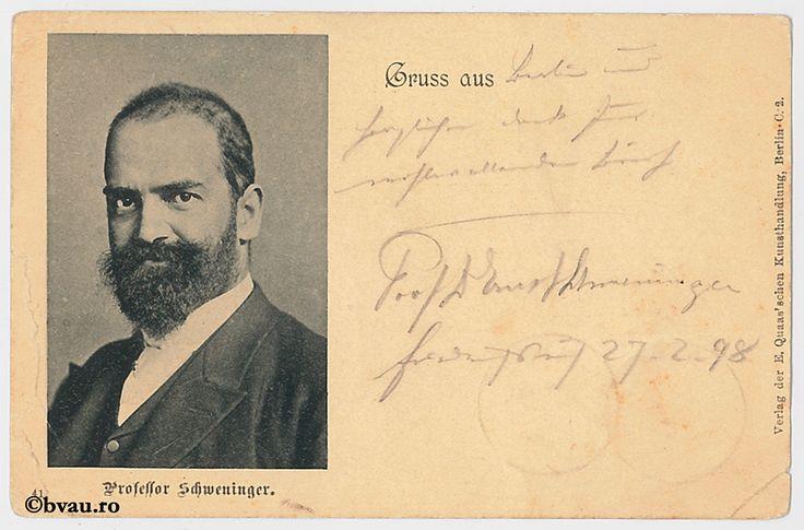 "Ernest D. Schweininger, 1898. Imagine din colecțiile Bibliotecii ""V.A. Urechia"" Galați."