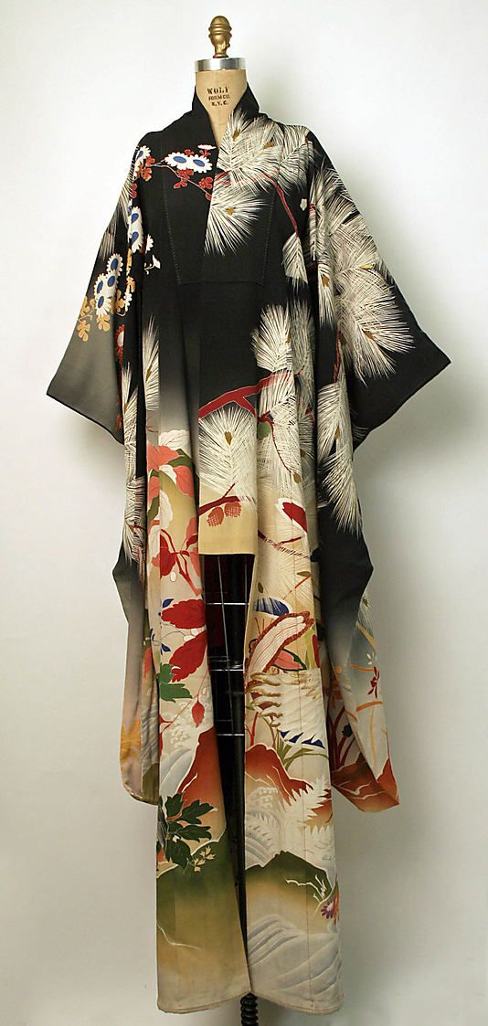 Kimono (Furisode) Date: 1850–1950 Culture: Japanese Medium: silk